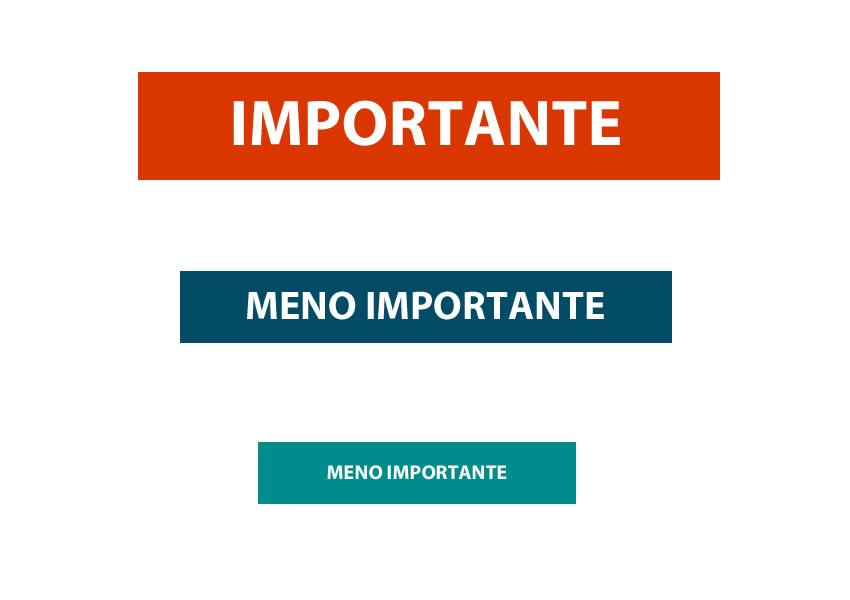le regole del graphic design GERARCHIE
